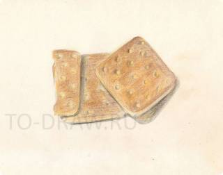 How to draw cookies pencil stages?