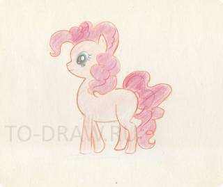 How to draw a pony Pinkie Pie pencil stages ?