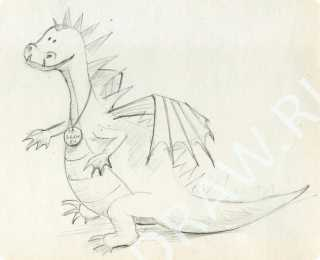 How to draw a dragon step by step pencil?